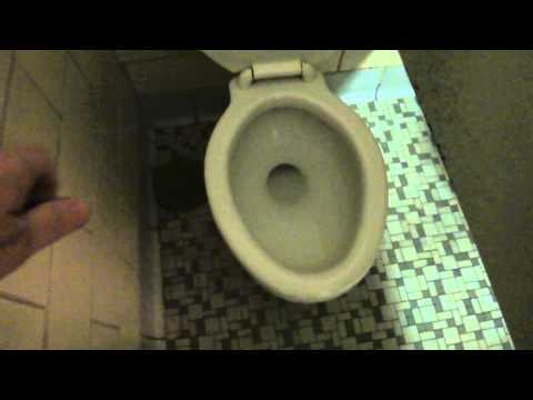Bathroom Tour: Vintage American Standard Toilet and Urinal Natural Bridge Visitor Center Virginia