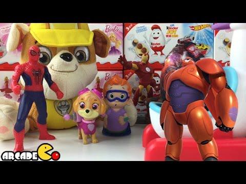 Disney Big Hero 6 Easter Eggs Surprise Paw Patrol Bubble Guppies - Grandes Heroes Huevos Sorpresa