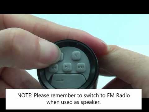 How To Use 2GB Mini Bicycle Action Sound Speaker Set with MP3 FM Radio Function