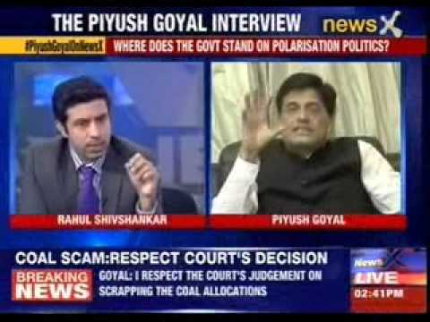 Piyush Goyal speaks exclusively with Rahul Shivshankar on NewsX