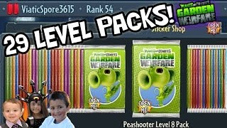 29 LEVEL PACK OPENINGS! Plants vs. Zombies Garden Warfare *MONEY EXPLOIT* Almost 100%