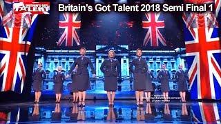 D Day Darlings Patriotic Rule Britannia Britain 39 S Got Talent 2018 Semi Final Group 1 Bgt S12e08