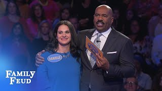 BIG WINNER! Watch Danielle & Pasquale conquer Fast Money! | Family Feud