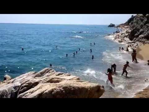 Calella nudistická pláž,Španělsko Katalánsko 8 2013 c