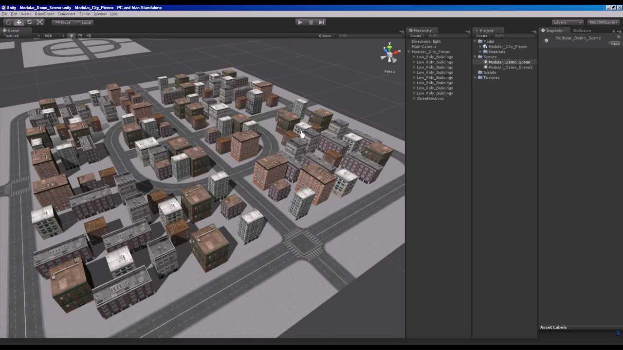 Unity Game Engine Modular City Kit Free YouTube