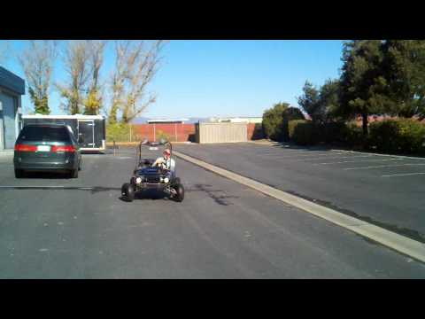 Uncle Marty gets loose in 2nd gear... 125 go kart
