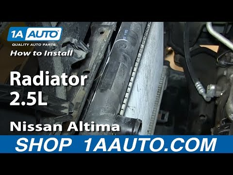 How To Install Replace Radiator 2.5L 2002-06 Nissan Altima
