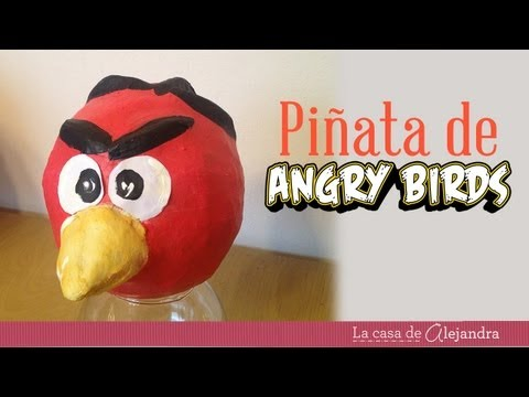Cómo hacer una piñata de Angry Birds - How to make a Angry Birds