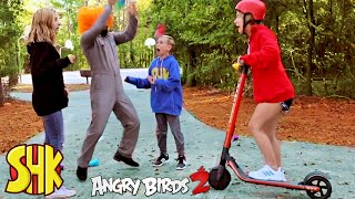 Noah's New Angry Birds 2 Rage Rider Scooter | SuperHero Kids