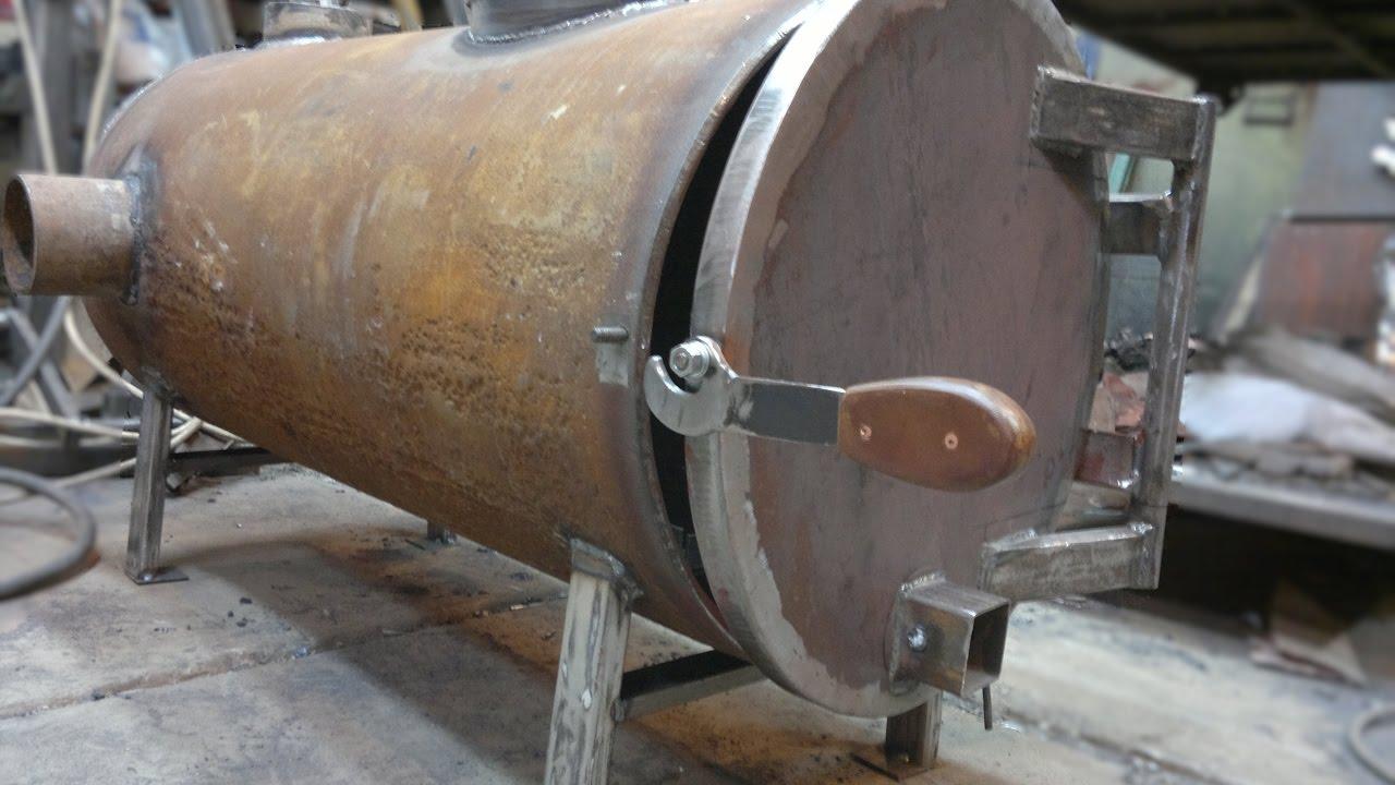 Печь для гаража из трубы 500 мм своими руками 37