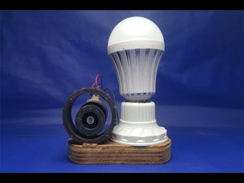free energy light bulb electricity generator using magnet thumbnail