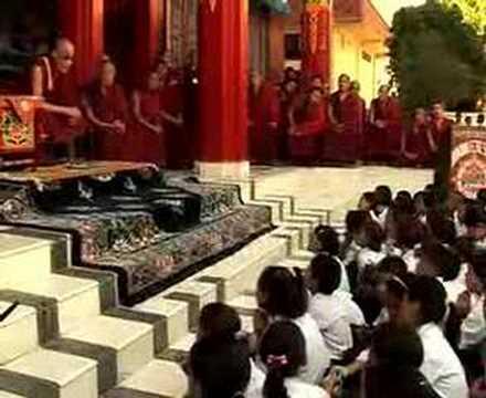 Dalai Lama in Bon Monastery