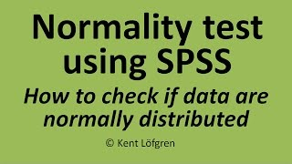 download lagu Normality Test Using Spss: How To Check Whether Data gratis