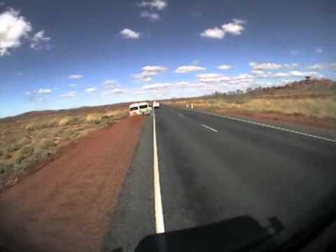 Van close call crash - Karratha