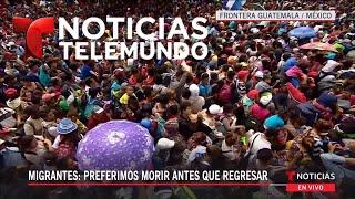 Hondureños presionan para cruzar a México   Noticiero