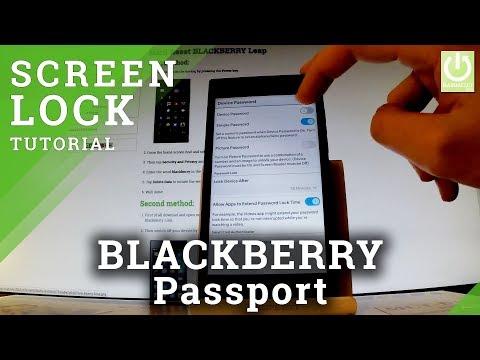 How to Set Up Password in BLACKBERRY Leap - Password Lock