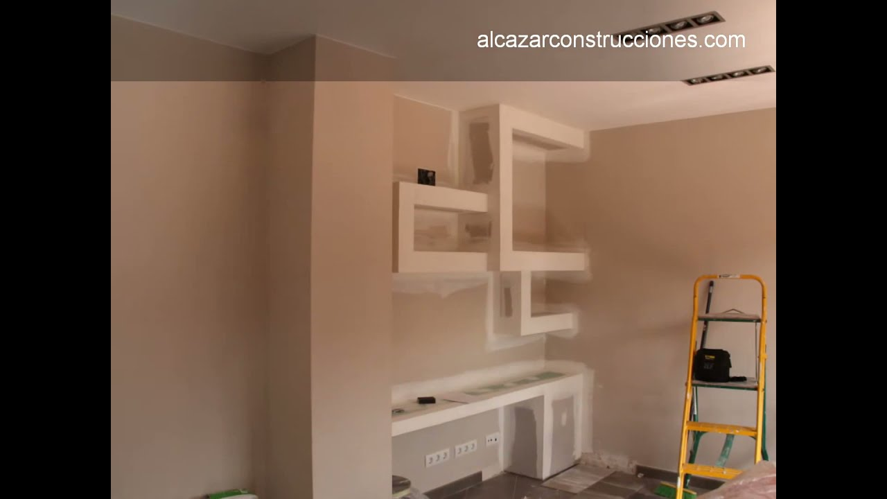 Reforma y decoración salón minimalista en Barcelona - YouTube