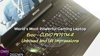 8 Core Laptop ! Hidevolution Evoc's P870TM-R - First Look !