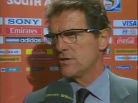 Germany 4-1  England  - Fabio Capello Interview - June 27 2010 - FIFA World Cup