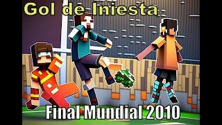 Minecraft, Football: Gol de Iniesta, fifa Wolrd cup 2010. Best animation of football in minecraft.
