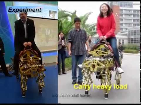 Baby Elephant Robot Can Carry People