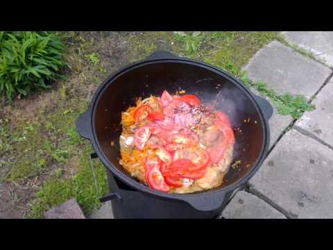 Как приготовить свинину в казане - видео