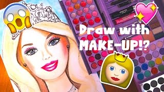 DRAWING WITH MAKEUP !!?? CHALLENGE