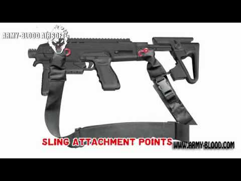 CAA RONI G1 Glock Pistol Carbine Conversion Kit for Airsoft Glock Series