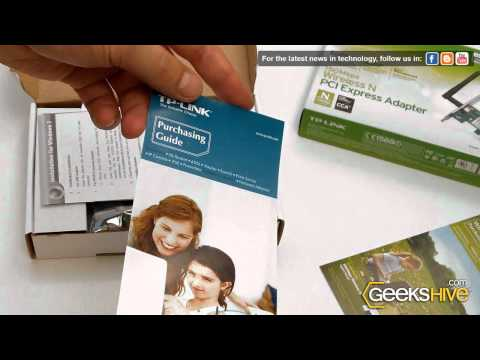 150Mbps Wireless PCI Express Adapter TL-WN781ND - TP-Link - Unboxing by www.geekshive.com