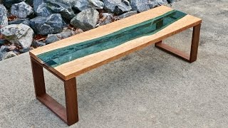 Live Edge River Coffee Table | How To Build - Woodworking