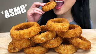** ASMR HUGE ONION RINGS ** Crunchy + Juicy Eating Sounds | Extreme Crunch | ASMR Phan