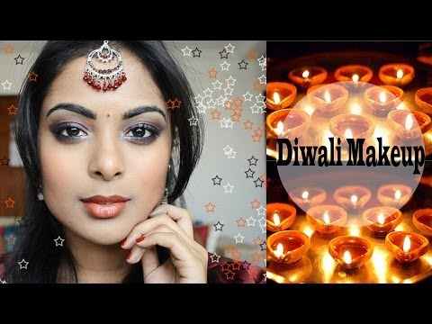Diwali Makeup : Cranberry Smokey Eyes for Indian Festival | Indian makeup tutorial