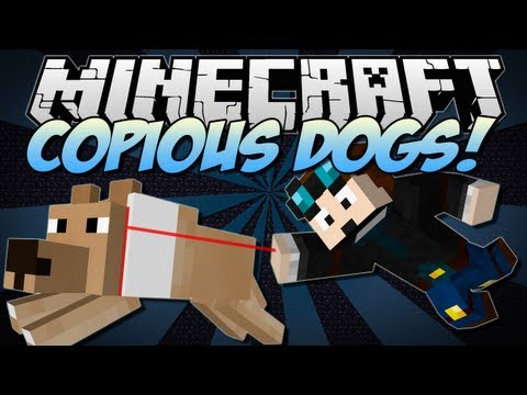 Minecraft   COPIOUS DOGS! (Puppies & Better Breeds in Minecraft!)   Mod Showcase [1.6.2]