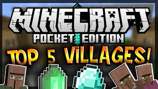 [0.9.0] BEST 5 ViLLAGE Seeds! - Minecraft Pocket Edition [Minecraft PE]