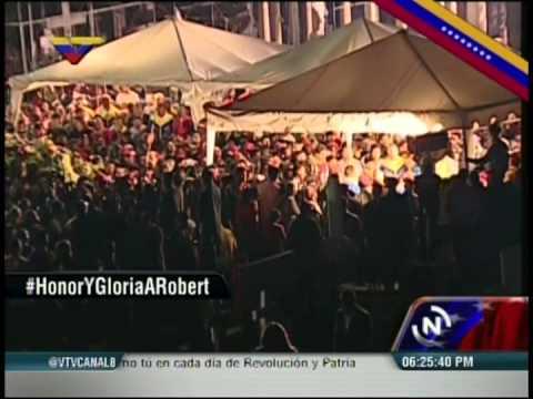 Siembra de Robert Serra: Llegada de Nicolás Maduro, discursos y entierro