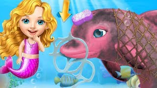 Fun Girl Care Kids Game - Sweet Baby Girl Mermaid Life - Play Fun Messy ocean Clean Up Makeover Game