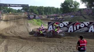 Antonio Cairoli vs Tim Gajser insane battle MXGP of Lombardia-Italy Mantova 2016