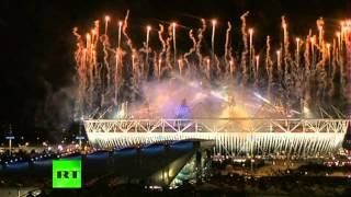 Video of closing ceremony fireworks at London Olympics 2012
