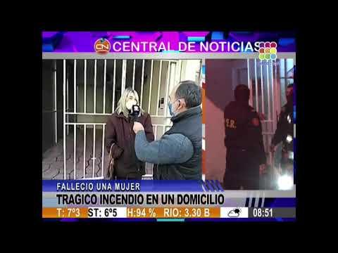 Penoso: Fatal incendio se cobró la vida de una reconocida escribana de Concordia.