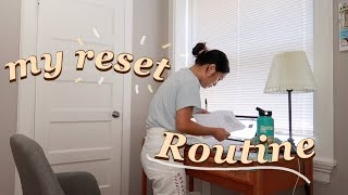 reset routine: getting my life together post vacation (budgeting, planning, studying, cleaning)