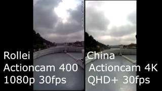 Rollei Actioncam 400 vs. 40-Bugs-China-Cam TEST