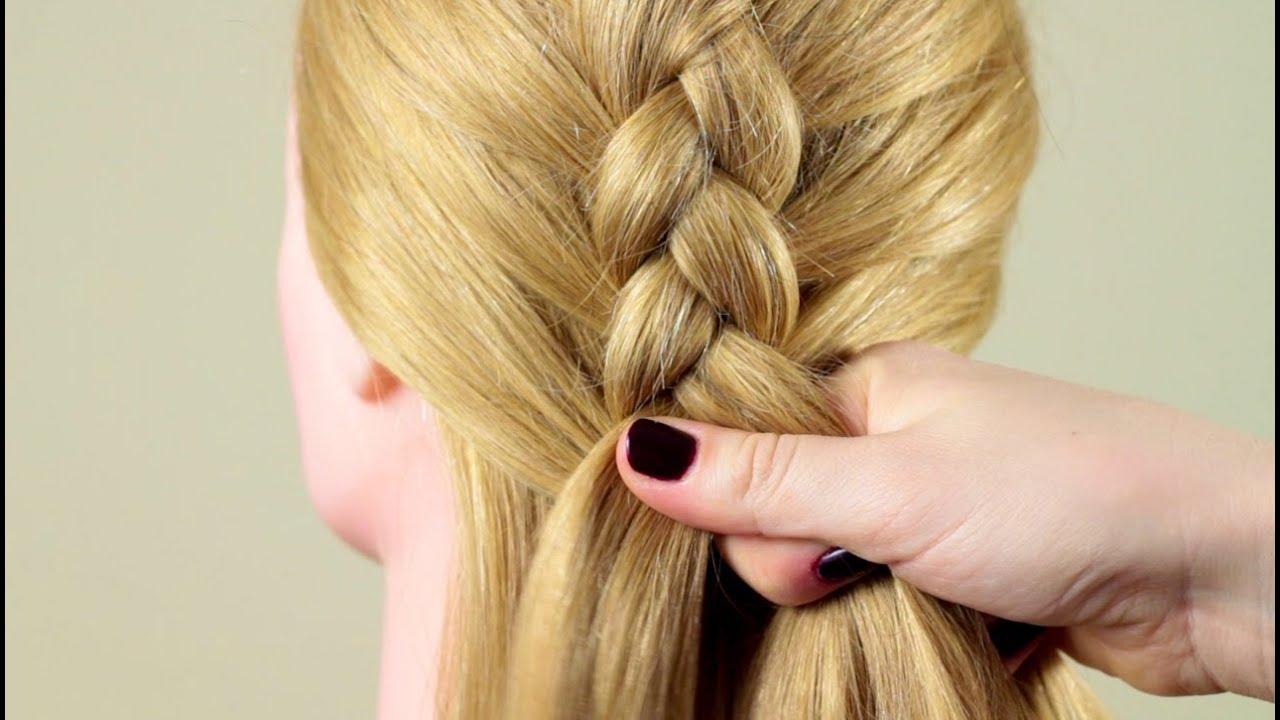 Плетение кос обратная французская коса