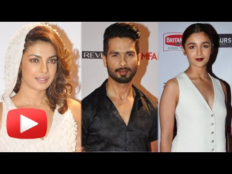 Priyanka Chopa, Shahid Kapoor, Alia Bhatt - Stars At Filmfare 2015 Pre Nomination Party