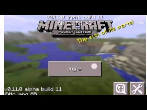 Minecraft pe 0.11.0 build 11 apk.