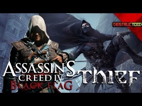 Assassin's Creed IV PIRATE LADIES! Thief 4 ANNOUNCED, Tomb Raider MOVIE COMING, & More!