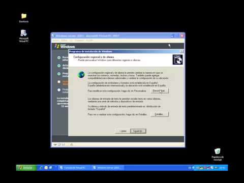 8 - Instalaci¢n de Windows Server 2003 en una maquina virutal (Virtual PC)