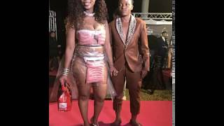 Skolopad wearing a boerwors outfit at the Feather Awards