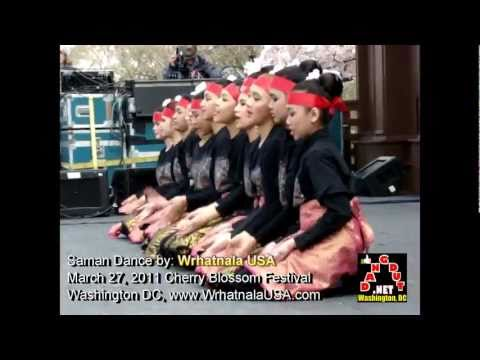 Tari Saman Dance Amerika - Cherry Blossom Festival 2011- Sylvan Theater, Washington Monument, Dc Usa video