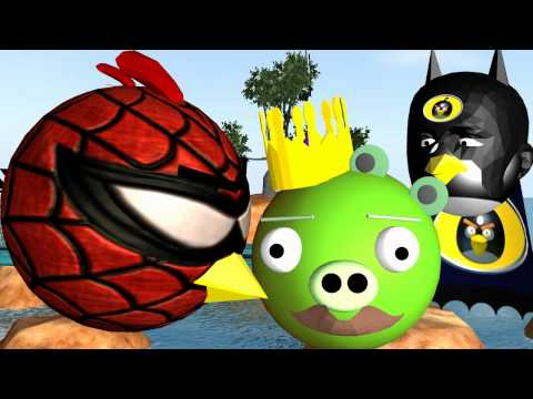 A 3D Animation of the ANGRY BIRDS as SUPER HEROES trying to get the pigs. Spiderman Batman Superman SpiderBird BatBird SuperBird & the mighty eagle. Have fun...