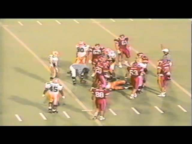 Oregon DT Marcus Woods sacks Utah QB Frank Dolce 9-21-1991
